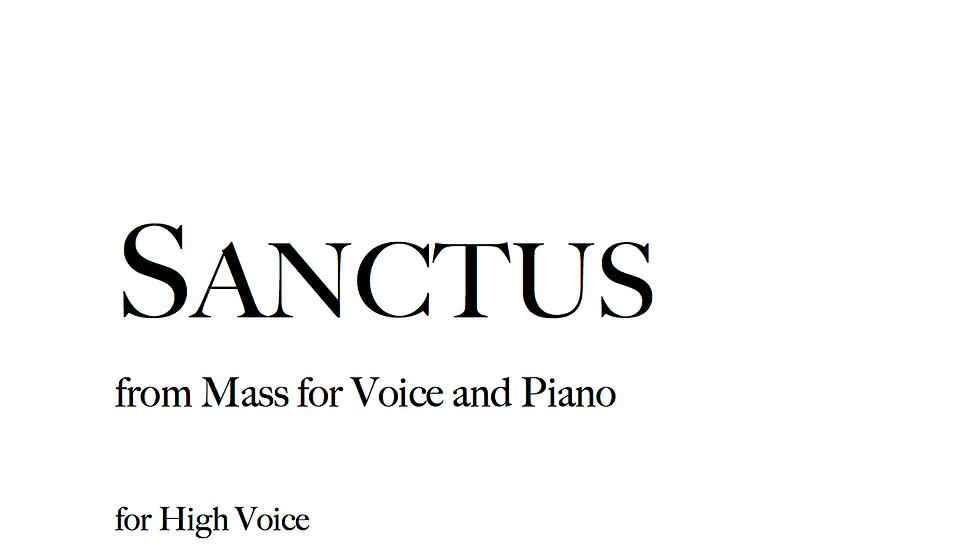 Sanctus - High Voice