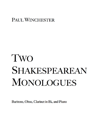 Two Shakespearean Monologues Title.png