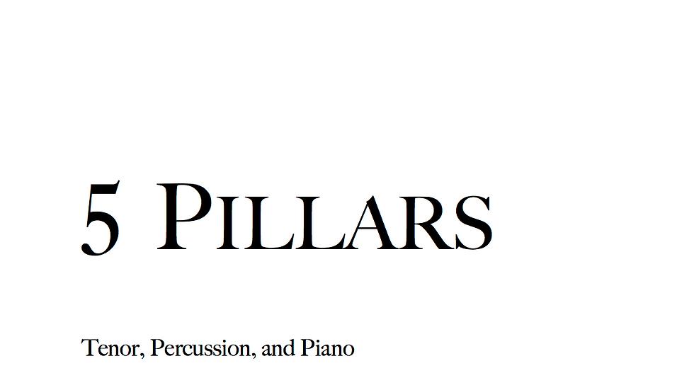5 Pillars - Full Score