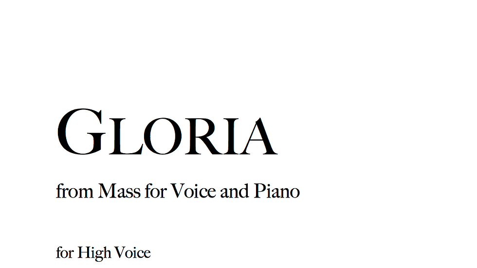 Gloria - High Voice