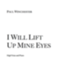I Will Lift Up Mine Eyes Title Page.png
