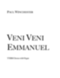 Veni Veni Emmanuel Title TTBB Organ.png