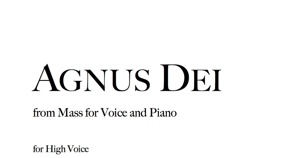 Agnus Dei - High Voice
