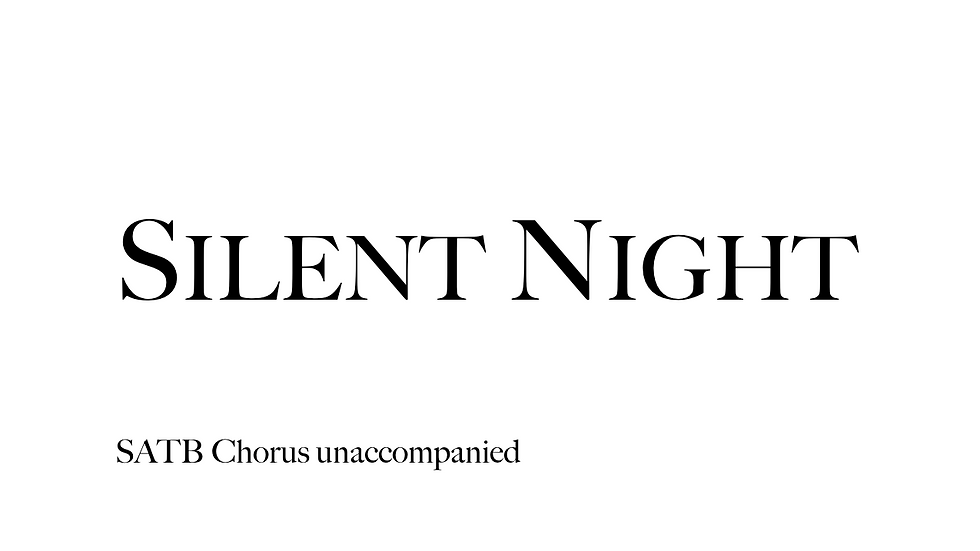 Silent Night SATB (25 Copies)