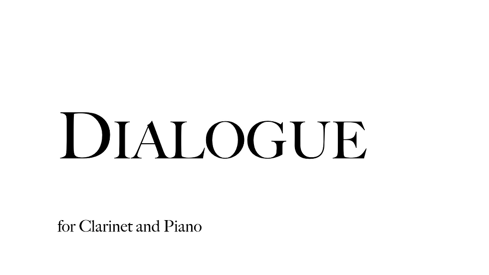 Dialogue for Clarinet and Piano