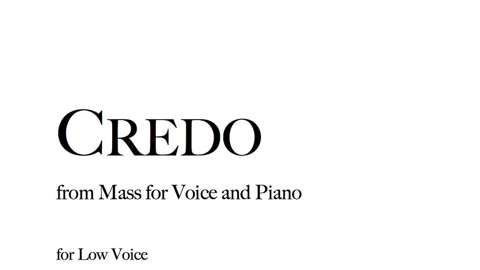 Credo - Low Voice