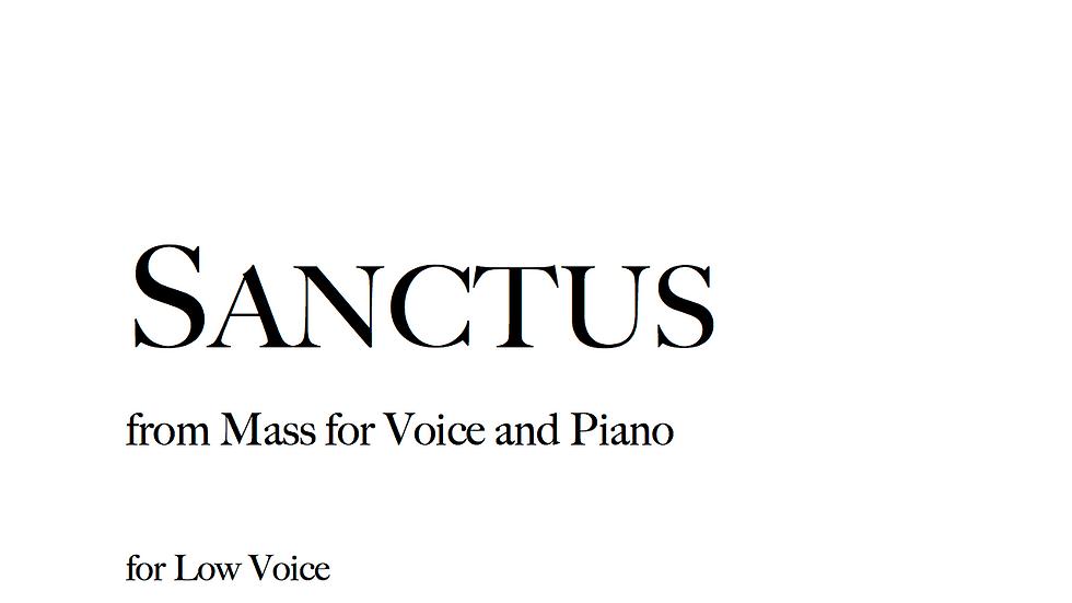 Sanctus - Low Voice