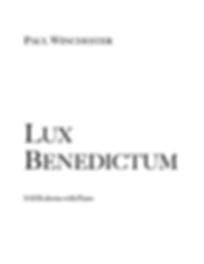 Lux Benedictum Title.png