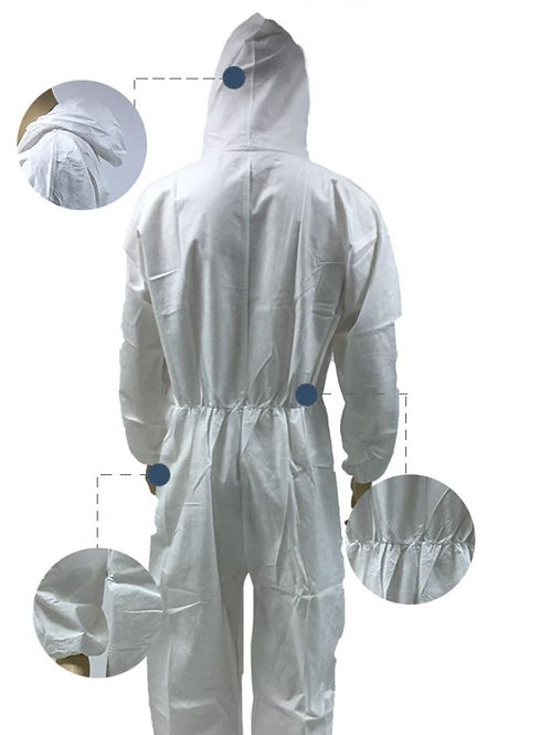 Supply: Disposable SBPP/SMS/SF Water/dust Proof working coverall/overall with ho