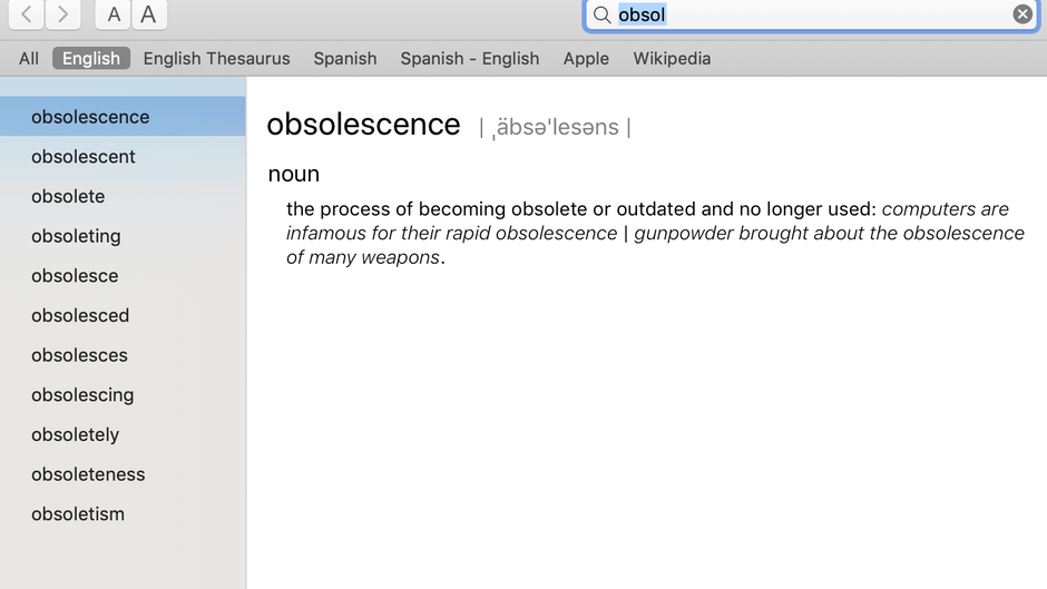 About Obsolescence