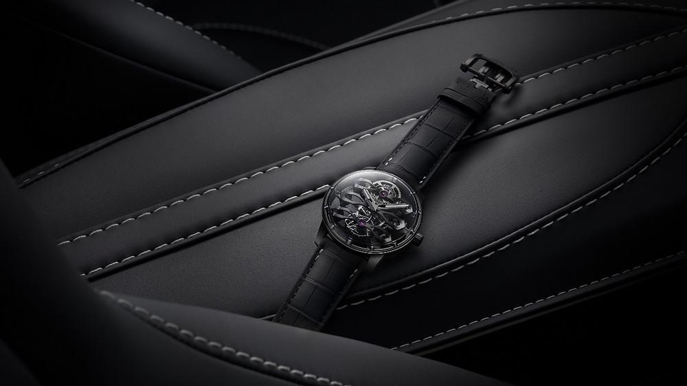 GP芝柏表推出首發聯名:三飛橋陀飛輪腕表——Aston Martin特別版,限量18只。