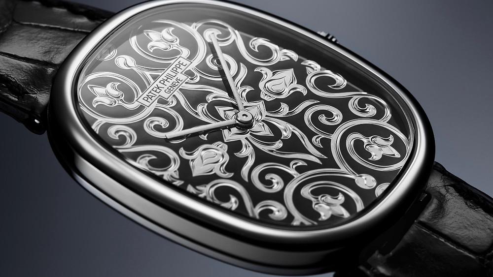 Ref. 5738/51G-001的機芯纖薄優雅,為的就是搭配厚度僅6.58mm的錶殼。