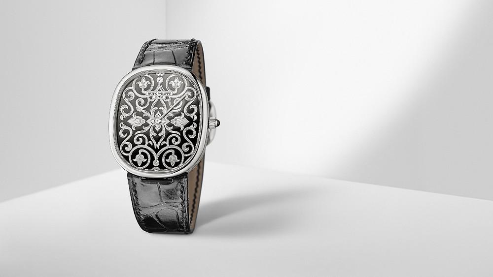Golden Ellipse系列 Ref. 5738/51G-001高級工藝腕錶 by PATEK PHILILPPE。