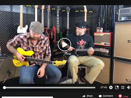 Dylan's Guest Spot on Reverend Guitars Vlog
