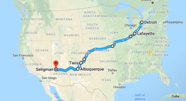 6 days, 6 gigs between Detroit and Northern AZ