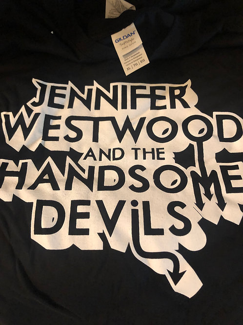 XL JWHD Devil Horn Tee - Black/White
