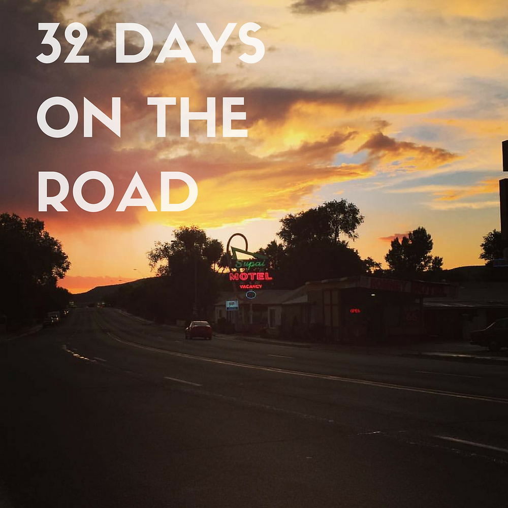 32 Days on the Road - Shot of the Sunset in Seligman, AZ