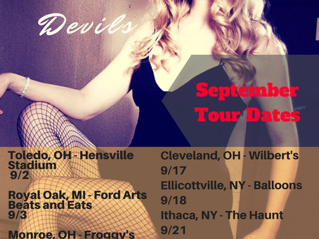 September Tour Dates - NY, OH, MI