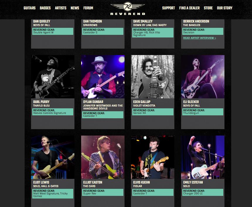 Dylan Dunbar and Reverend Guitars