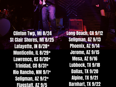 End of summer tour dates