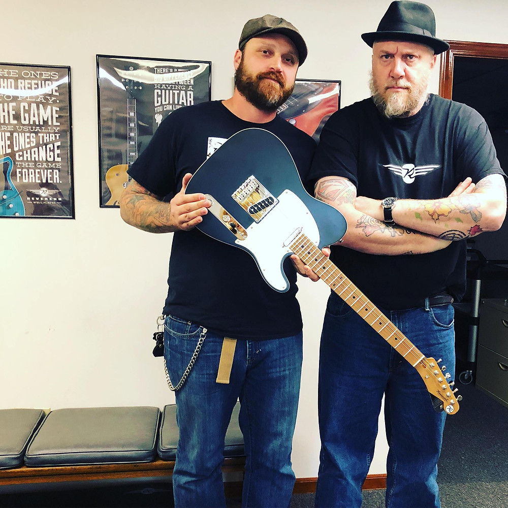Dylan With CEO of Reverend Guitars, Ken Haas