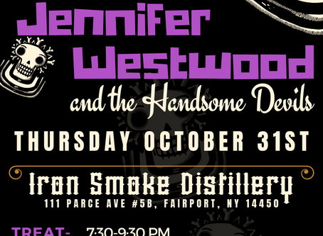 Jennifer Westwood and the Handsome Devils return to the ROC for Halloween