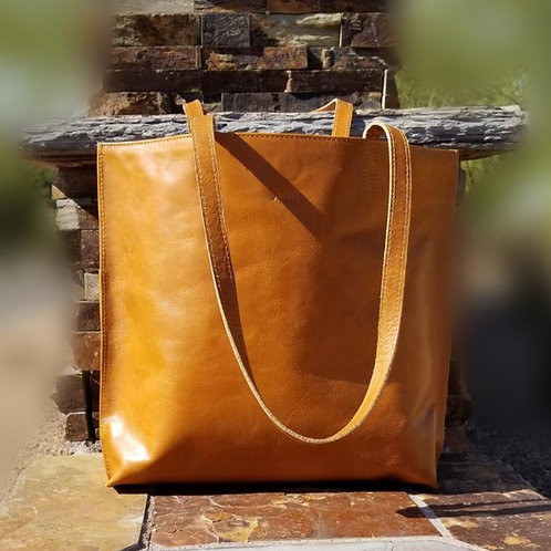 Joyn Bags Everyday Tote in Camel Leather