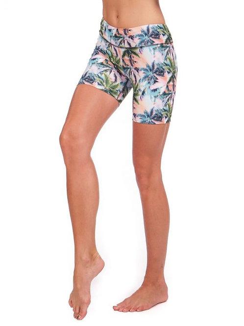 NUX Tropical Print Biker Short