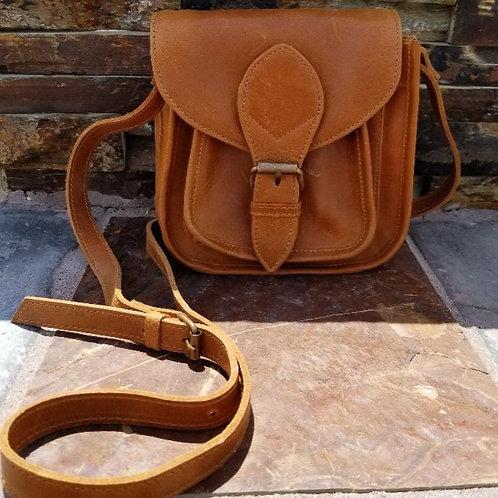 Myra Mini Leather Satchel Crossbody Bag
