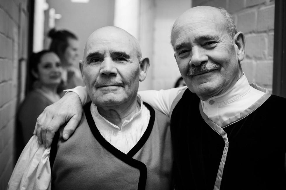 Domenicu Canu (boche) & Giovanni Carta (bassu, boche) Tenore de Monte Arvu with Voxtra at15 yrs Muziekpublique (c) Simon Blackley