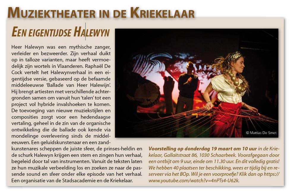 Promo Halewyn anouncement for GC De Kriekelaar (cancelled COVID19)