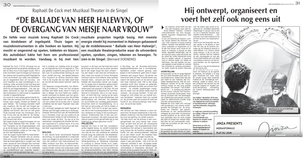 Interview in Gazet Zurenborg (in Dutch)