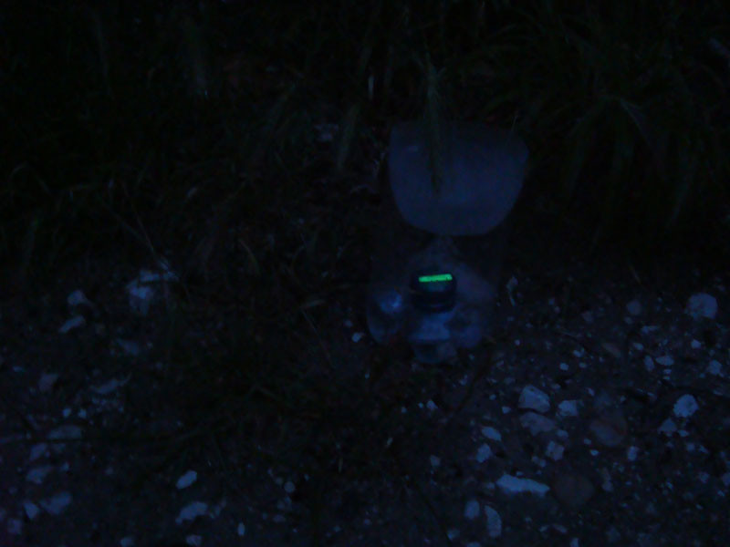 firefly glow trap set-up  - SE France expedition 2014