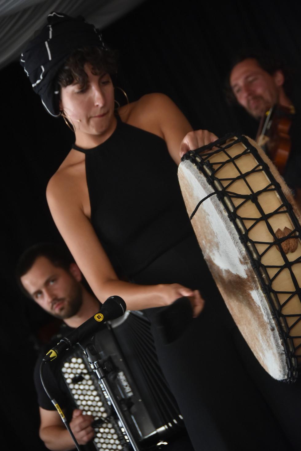 Aline Goffin (shaman drum)