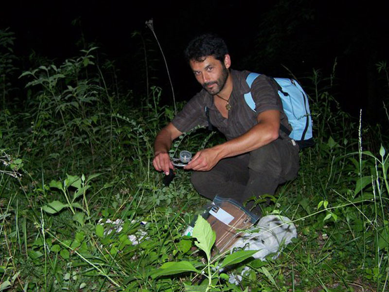 testing glow lures for Phausis reticulata - Smoky Mountains expedition - with Prof. Sara Lewis & Lynn Faust