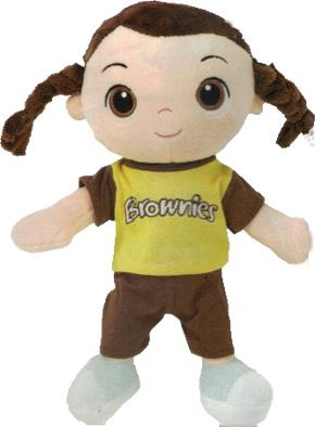 Brownie rag doll