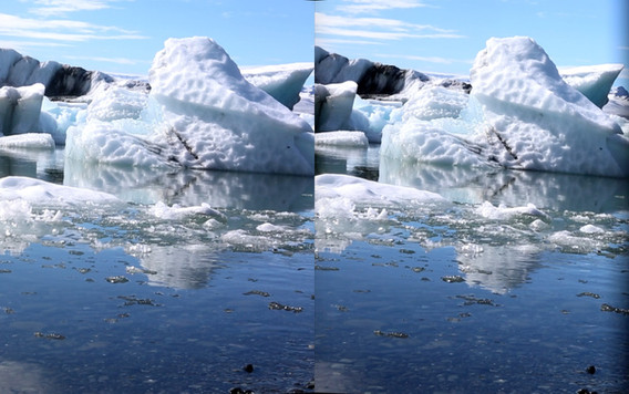 Jökulsárlón - 3D image - Cross-eye