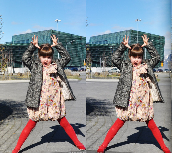 3D Fun By Harpa Concert Hall - Cross-eye