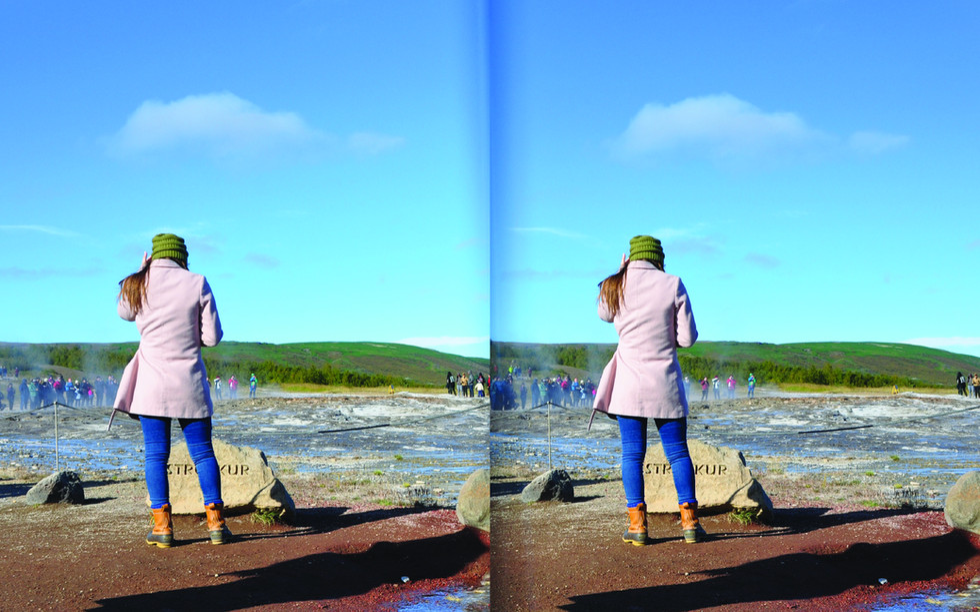 Strokkur. Stereoscopic 3D image
