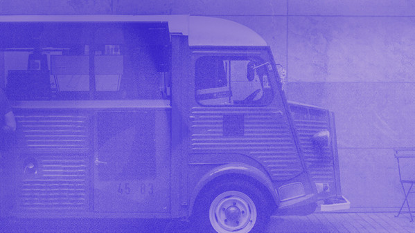 Halbton-Truck