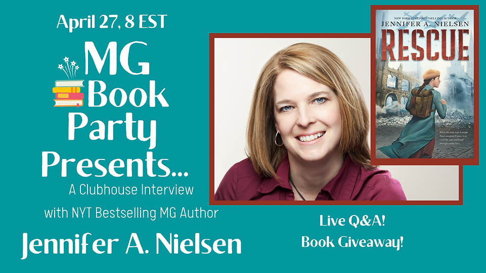 NYT Bestselling Middle Grade Author Jennifer A. Nielsen Clubhouse Interview with MG Book Party