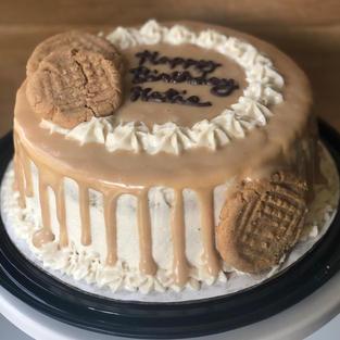 PB Carame Cookie Cake