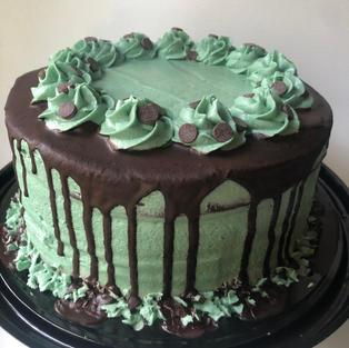 Mint Chip Brownie Cake