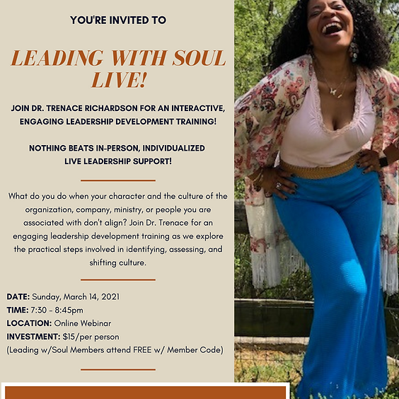 Leading with Soul Live: When Your Character and Their Culture Doesn't Align