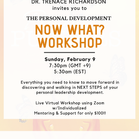 The NOW WHAT? Workshop