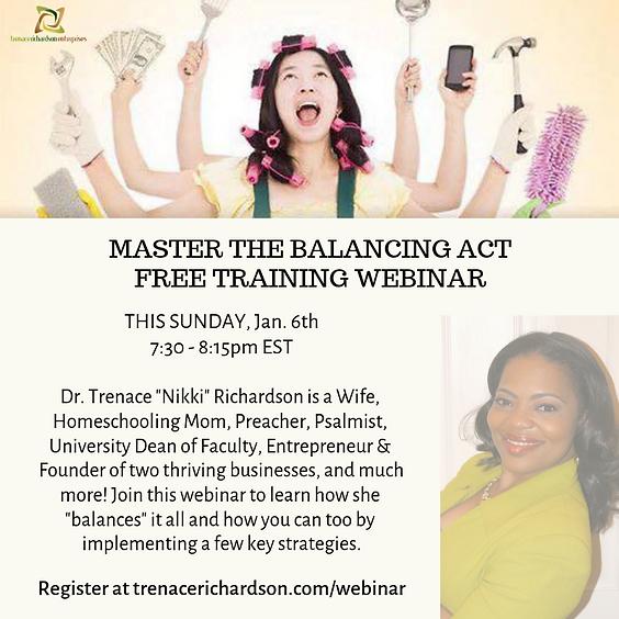 Master the Balancing Act Free Training Webinar