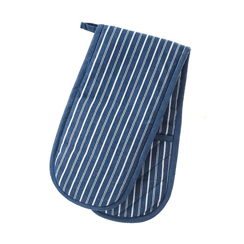 Stow Green - Blue Stripe Double Oven Glove