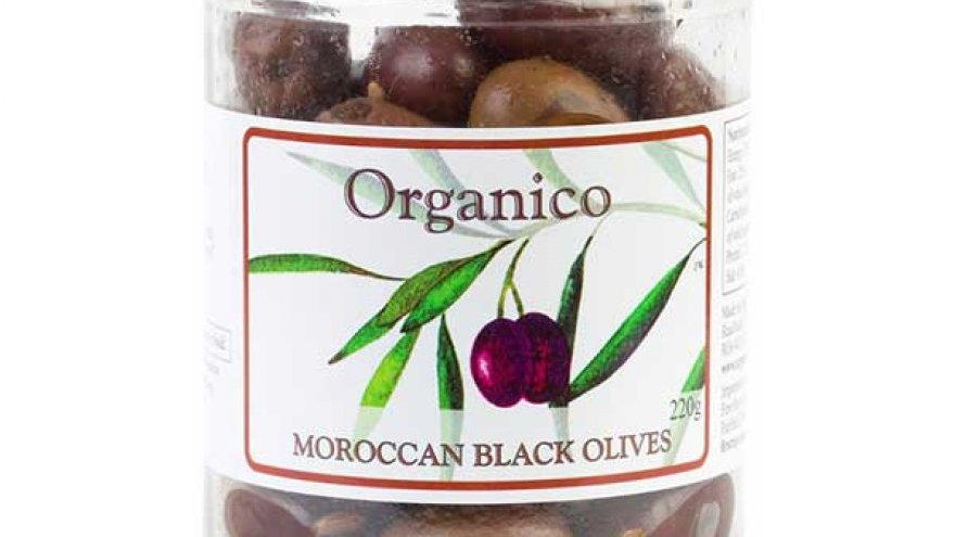 Organico Moroccan Black Olives (220g)