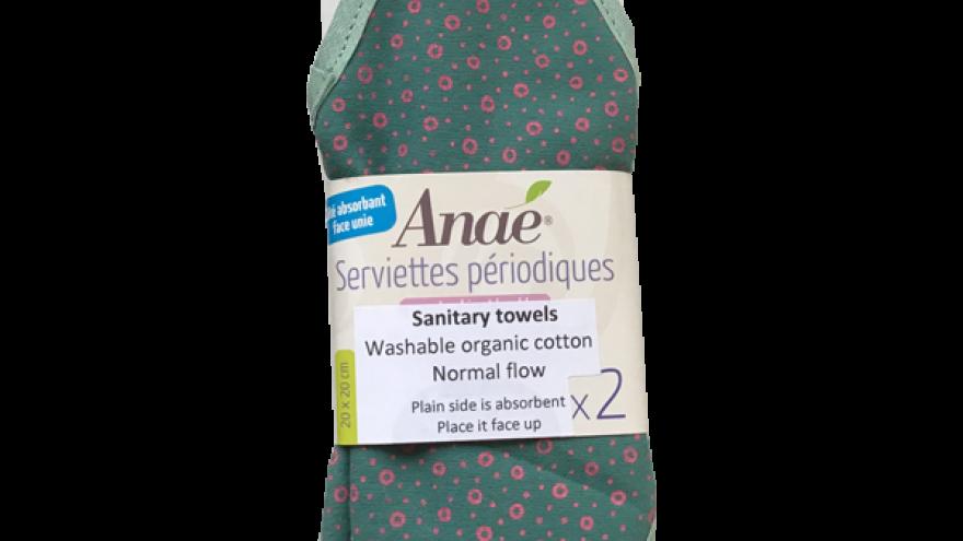 Organic Medium Flow Cotton Washable Sanitary Towels - Circle