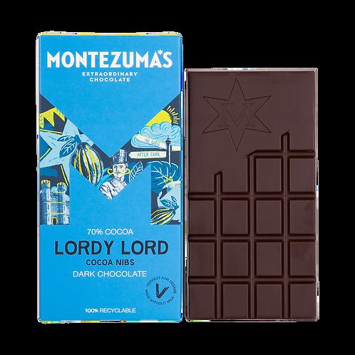 Montezuma Lordy Lord - 70% Dark Chocolate with Cocoa Nibs (90g)